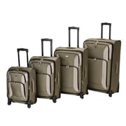 Rockland Impact 4 Piece Spinner Luggage Set; Olive