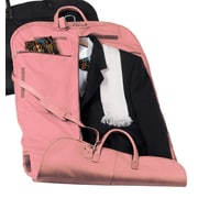 Royce Leather Royce Leather Garment Bag Travel Luggage in Genuine Leather; Carnation Pink