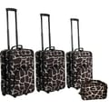 Rockland 4 Piece Luggage Set; Giraffe