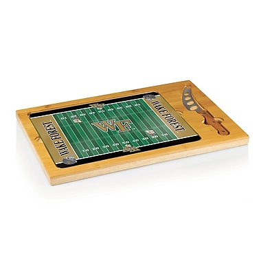Picnic Time NCAA Football Icon Cutting Cheese Tray; Wake Forest University Demon Deacons