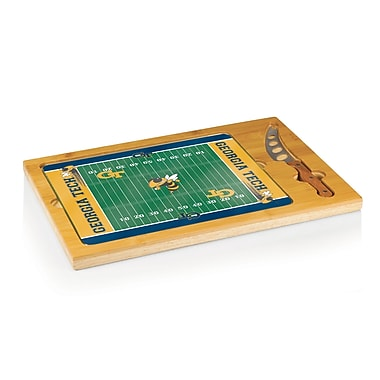 Picnic Time NCAA Football Icon Cutting Cheese Tray; Georgia Tech Yellow Jackets
