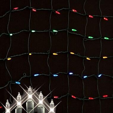 Queens of Christmas Minilights 150 Light Net Light; Clear