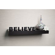 DanyaB Decorative ''Believe'' Wall Mount Self