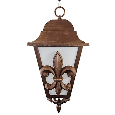 Melissa Americana 3 Light Outdoor Hanging Lantern; Aged Silver