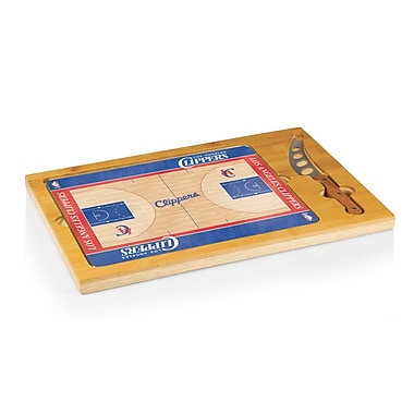 Picnic Time NBA Icon Cutting Cheese Board; Los Angeles Clippers