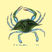 Betsy Drake Interiors Blue Crab Coaster (Set of 4)