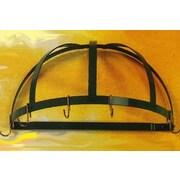 Rogar Gourmet Half Dome Wall Mounted Pot Rack; Black/Black