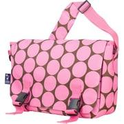 Wildkin Big Dots Jumpstart Messenger Bag; Pink
