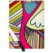 KESS InHouse Fake Colors Cutting Board; 11.5'' H x 15.75'' W x 0.15'' D