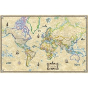 Universal Map Antique Style World Paper Rolled Map