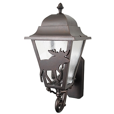 Melissa Americana 3 Light Outdoor Sconce; Patina Bronze