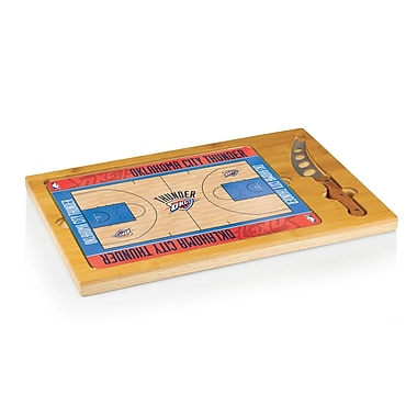 Picnic Time NBA Icon Cutting Cheese Board; Oklahoma City Thunder