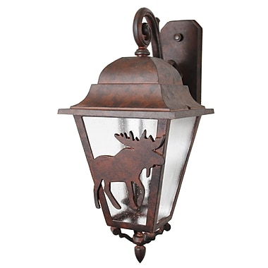 Melissa Americana 3 Light Outdoor Wall Lantern; Old Copper