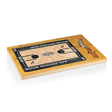 Picnic Time NBA Icon Cutting Cheese Tray; San Antonio Spurs