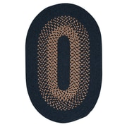 Colonial Mills Madison Blue Moon Braided Area Rug; Round 10'