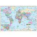Universal Map World Primary Mounted Wall Map