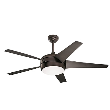 Emerson Fans 54'' Midway Eco 5 Blade Fan w/Remote; Oiled Rubbed Bronze w/Oil Rubbed Bronze Blades