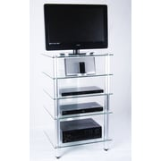 Tier One Designs Tier One Designs TV Stand; Clear Glass
