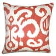 The Pillow Collection Teora Ikat Cotton Pillow; Flame