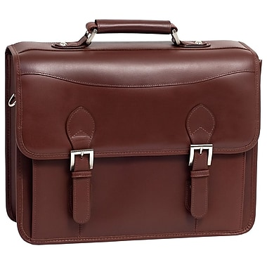 Siamod Manarola Belvedere Leather Laptop Briefcase; Cognac