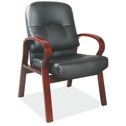 OfficeSource Vital Leather Guest Chair; Mahogany
