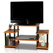 Furinno Turn 'n' Tube Entertainment Center; Light Cherry and Black