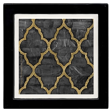 Thirstystone Mother of Pearl Ebony Ambiance Coaster Set (Set of 4)