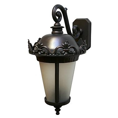Melissa Parisian Elegance 3 Light Outdoor Wall Lantern; Black