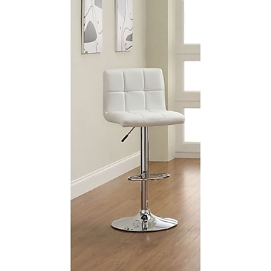 Hokku Designs Pure Adjustable Height Swivel Bar Stool; White