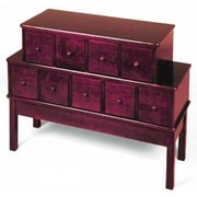 Leslie Dame Library Style 9 Drawer Multimedia Cabinet; Cherry