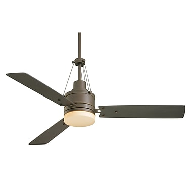 Emerson Fans 54'' Highpointe 3 Blade Ceiling Fan; Golden Espresso with Chocolate Blades