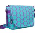 Wildkin Big Dots Aqua Laptop Messenger Bag