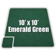 Alessco SoftCarpets Set in Emerald Green; 20' x 20'