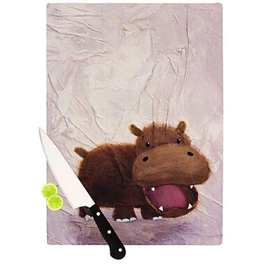 KESS InHouse The Happy Hippo Cutting Board; 11.5'' H x 8.25'' W