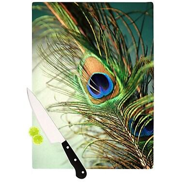KESS InHouse Peacock Feather Cutting Board; 11.5'' H x 15.75'' W