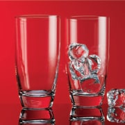 Home Essentials and Beyond Red Series 16 oz. Round Highball Glass (Set of 4)