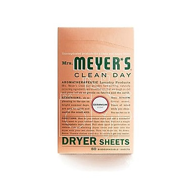 Mrs. Meyers Geranium Dryer Sheet (80 Pack)