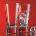Home Essentials and Beyond Red Series 12 oz. V Line Highball Glass (Set of 4)