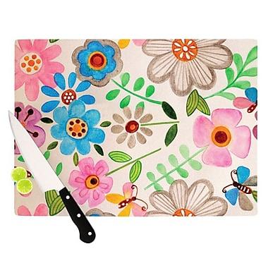 KESS InHouse The Garden Cutting Board; 11.5'' H x 15.75'' W