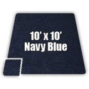 Alessco SoftCarpets Set in Navy Blue; 20' x 20'