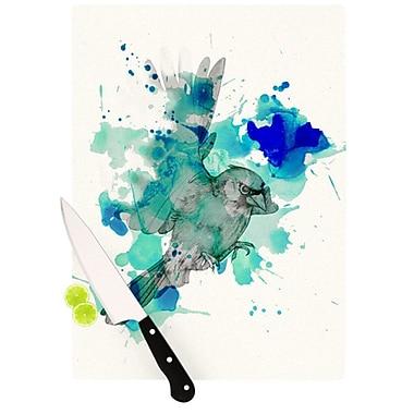 KESS InHouse A Cardinal in Blue Cutting Board; 11.5'' H x 8.25'' W