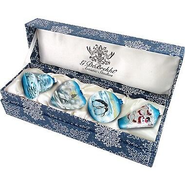 G Debrekht 4 Piece Small Winter Ornament Set