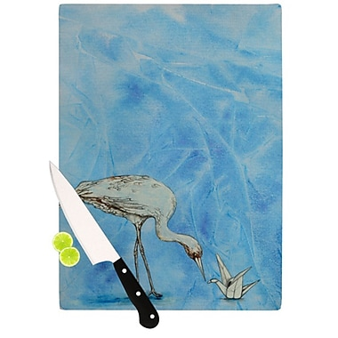 KESS InHouse Crane Cutting Board; 11.5'' H x 15.75'' W