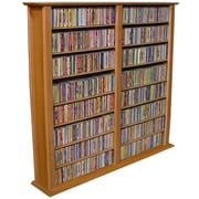 Venture Horizon VHZ Entertainment Regular Double Multimedia Storage Rack; Oak