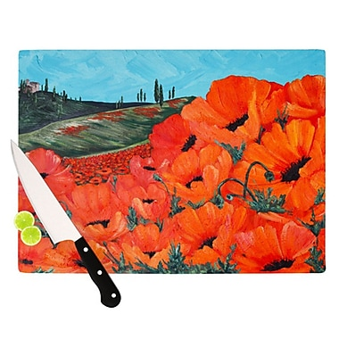 KESS InHouse Poppies Cutting Board; 11.5'' H x 8.25'' W x 0.25'' D