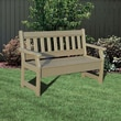Little Cottage Company Poly Lumber Garden Bench; Bright Orange