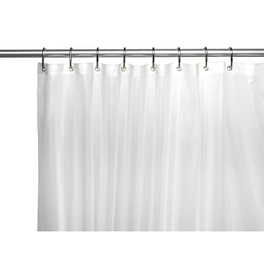 Carnation Home Fashions Clean Home EVA Shower Curtain Liner; Frosty Clear