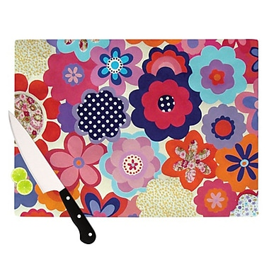 KESS InHouse Patchwork Flowers Cutting Board; 11.5'' H x 8.25'' W