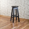 American Heritage Taylor 24'' Swivel Bar Stool; Black