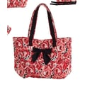 Jessie Steele Deco Rose Bow Tote Bag